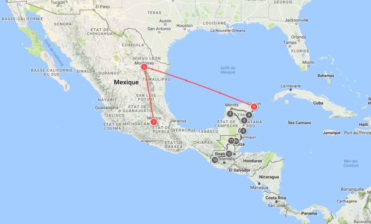 mexique itinéraire
